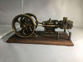 As New  EIWI Horizontal twin flywheel steam ngine.